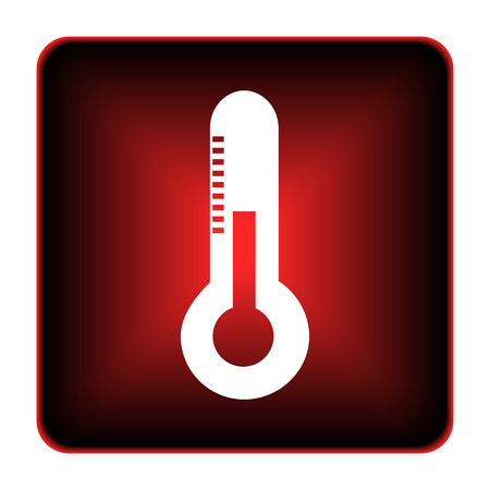 Thermometer icon. Internet button on white background.