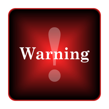 Warning icon. Internet button on white background.
