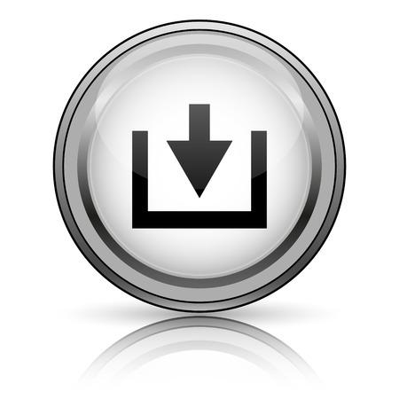 Download icon. Internet button on white background.  photo