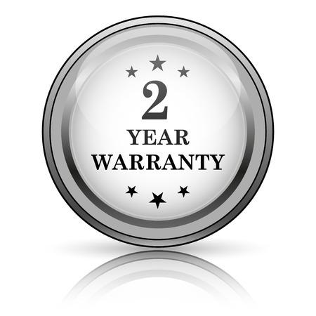 2 year warranty icon. Internet button on white background.  photo