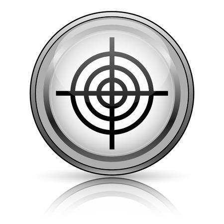 Target icon. Internet button on white background.  photo