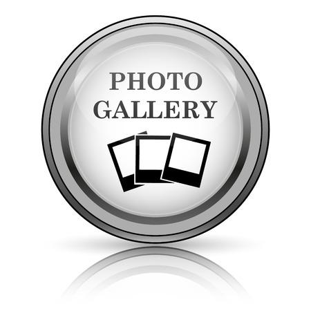 Photo gallery icon. Internet button on white background.  photo