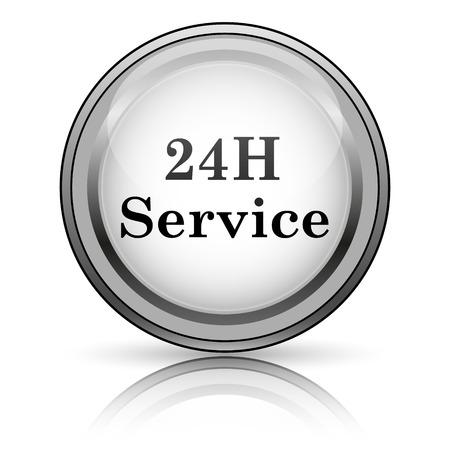 24H Service icon. Internet button on white background.  photo