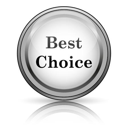 Best choice icon. Internet button on white background.  photo