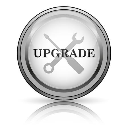 interconnect: Upgrade icon. Internet button on white background.  Stock Photo