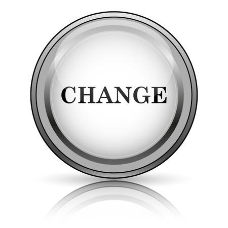 progression: Change icon. Internet button on white background.  Stock Photo