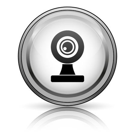 Webcam icon. Internet button on white background.  photo