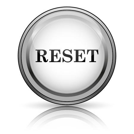 redesign: Reset icon. Internet button on white background.  Stock Photo