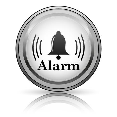 alert ribbon: Alarm icon. Internet button on white background.  Stock Photo