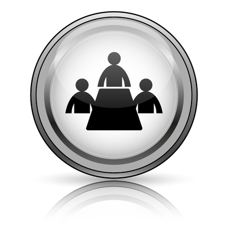 push room: Meeting room icon. Internet button on white background.