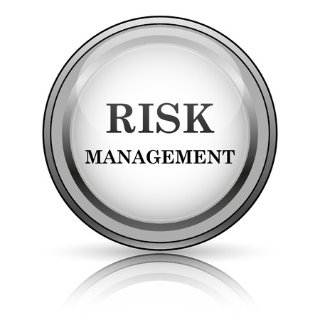 Risk management icon. Internet button on white background.  photo