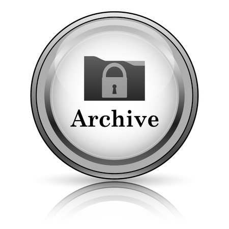 restore: Archive icon. Internet button on white background.