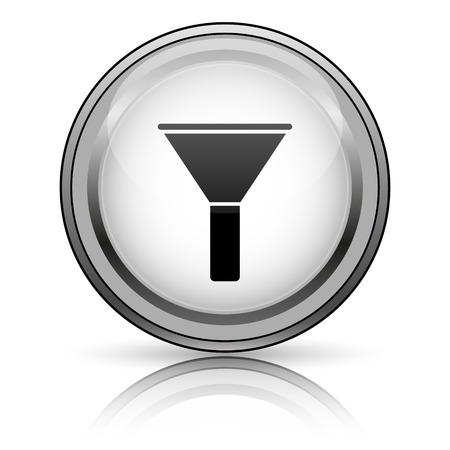 Filter icon. Internet button on white background.  photo
