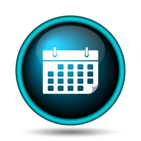 time bound: Calendar icon. Internet button on white background.  Stock Photo