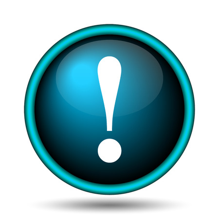 Attention icon. Internet button on white background.  photo
