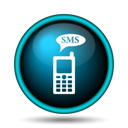 gsm: SMS icon. Internet button on white background.  Stock Photo