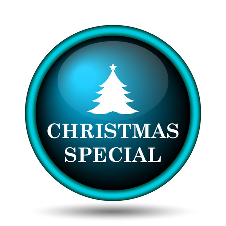christmas bonus: Christmas special icon. Internet button on white background.