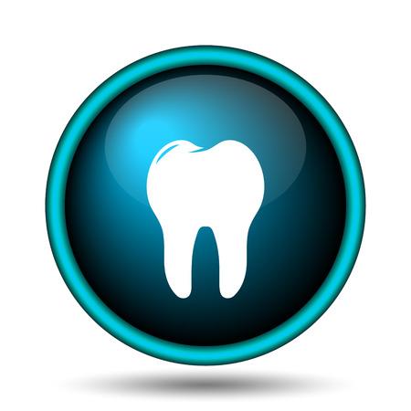 Tooth icon. Internet button on white background.  photo