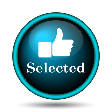 selected: Selected icon. Internet button on white background.