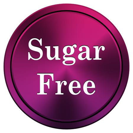 sweetener: Mauve metallic icon. Internet button on white background.