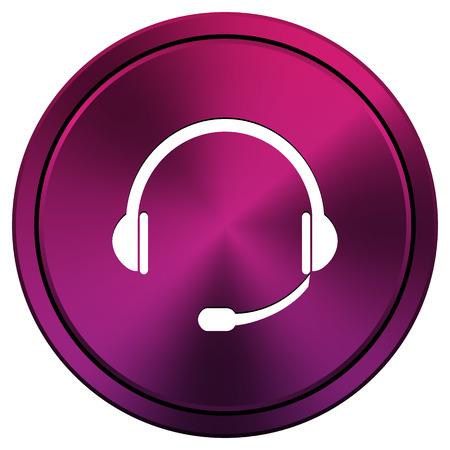 Mauve metallic icon. Internet button on white background. photo