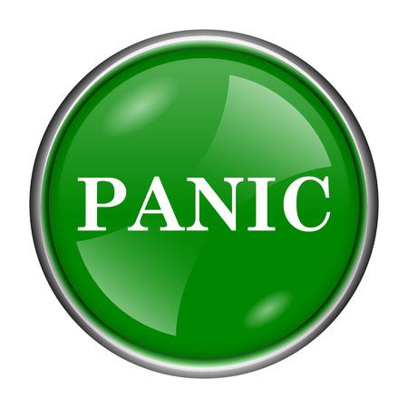 alert ribbon: Green shiny glossy icon on white background Stock Photo