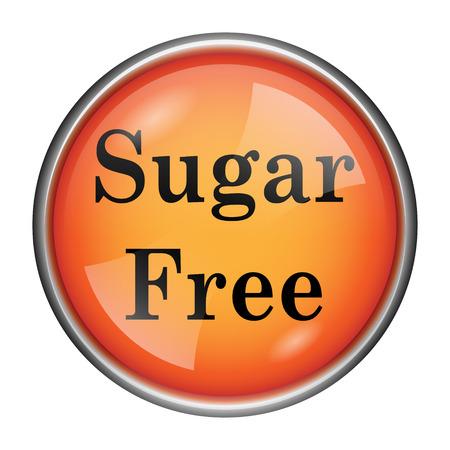 sweetener: Orange shiny glossy icon on white background.