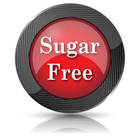 sweetener: Red shiny glossy icon on white background. Stock Photo