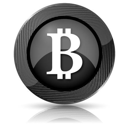 p2p: Black shiny glossy icon. Internet button on white background. Stock Photo
