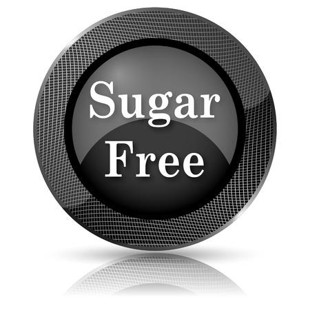 Black shiny glossy icon. Internet button on white background. photo