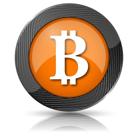 p2p: Orange shiny glossy icon on white background.