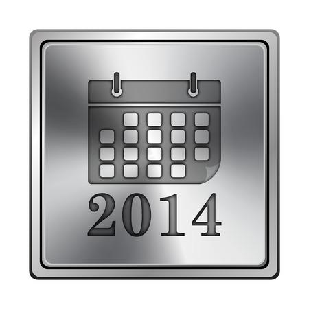 Metallic shiny glossy icon on white background photo