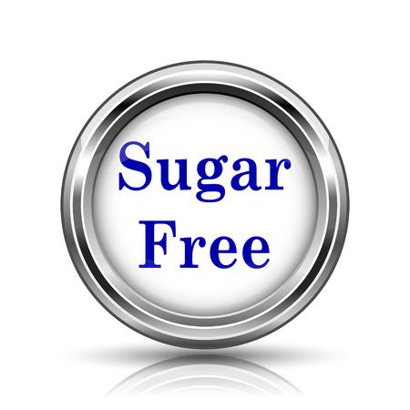sweetener: Metallic shiny glossy icon on white background.