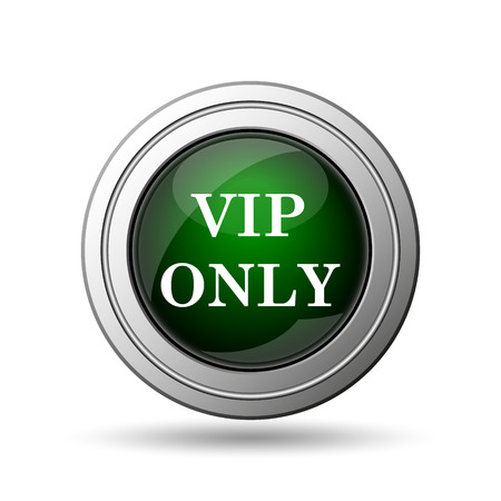 VIP only icon. Internet button on white background.  photo
