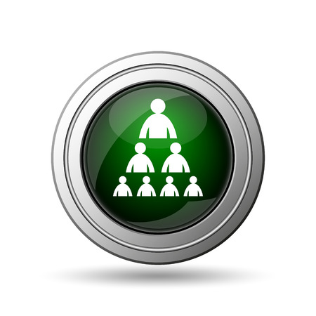 Organizational chart with people icon. Internet button on white background.  photo