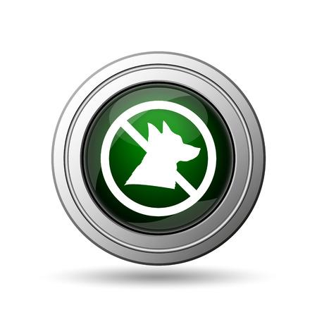 Forbidden dogs icon. Internet button on white background.  photo