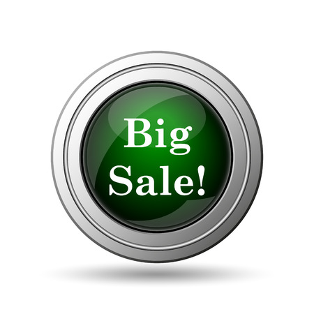 Big sale icon. Internet button on white background.  photo