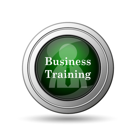 idea hurdle: Business training icon. Internet button on white background.  Stock Photo