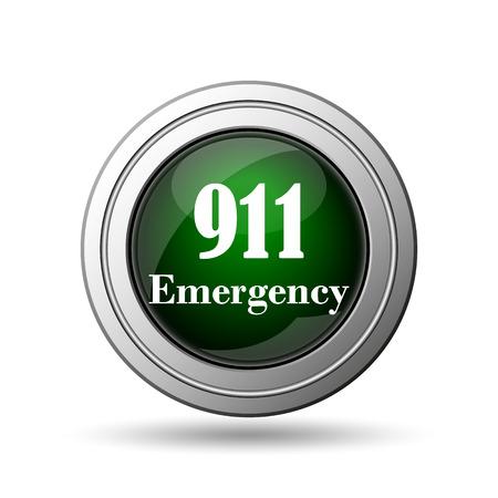 911 Emergency icon. Internet button on white background.  photo