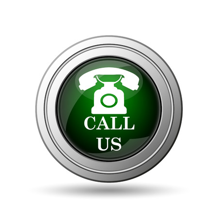 call us: Call us icon. Internet button on white background.