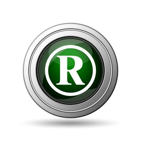 Registered mark icon. Internet button on white background.  photo