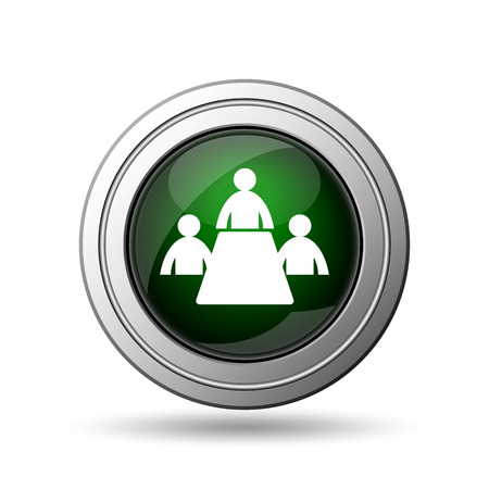 Meeting room icon. Internet button on white background.  photo