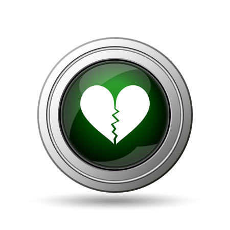 heartbreak: Broken heart icon. Internet button on white background.