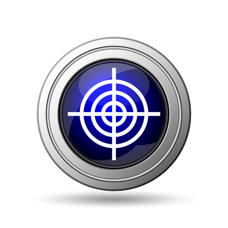Target icon. Internet button on white background.  photo
