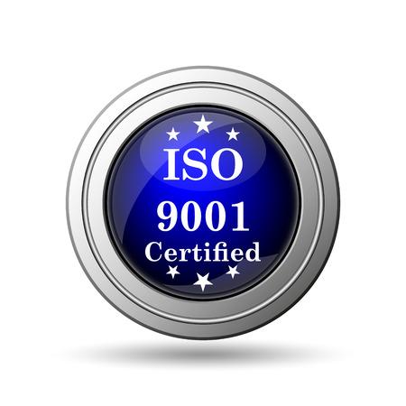 ISO9001 icon. Internet button on white background.  Stock Photo