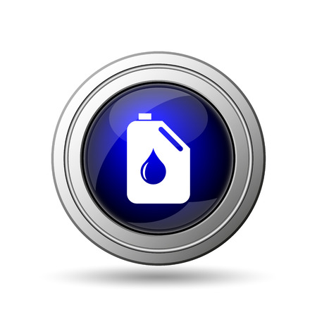Oil can icon. Internet button on white background.  photo