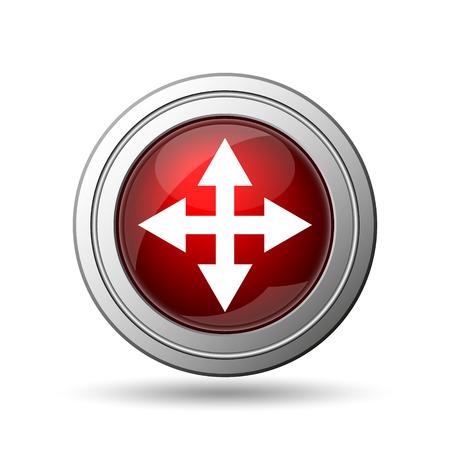 Full screen icon. Internet button on white background.  photo