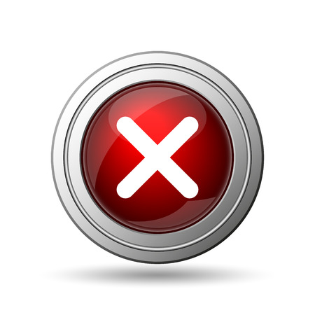 X close icon. Internet button on white background.