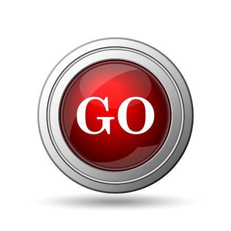GO icon. Internet button on white background.