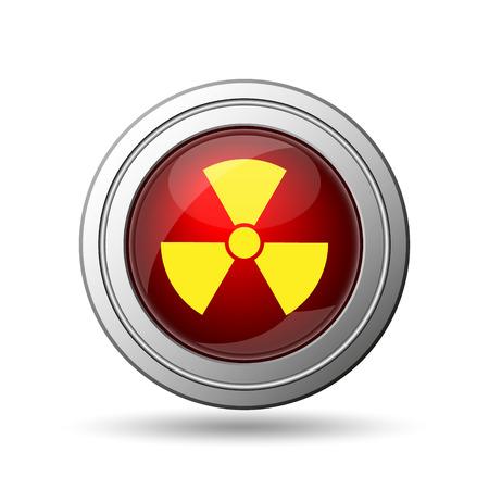 Radiation icon. Internet button on white background.  Stock Photo